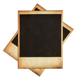Vintage instant photo frames isolated on white Stock Image