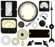 Vintage Isolated Gauges Meters and Dials  Royalty Free Stock Image