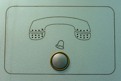 Vintage intercom doorbell with phone sign Royalty Free Stock Photography