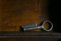 Vintage interesting metal key stock photos