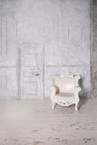Vintage Interior with Armchair, Wall and Door. Retro Royalty Free Stock Image