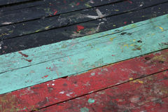 Vintage interior con colorido en fondo retro de madera, de madera y área vacía para el texto, color en de madera con retro Fotografía de archivo
