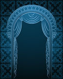 The vintage interior with curtain. Stock Photography