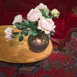Vintage interior decorated with roses Royalty Free Stock Images