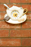 Vintage interior decoration. Coffee Clock vintage interior decoration Royalty Free Stock Photos