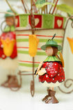 Vintage interior decoration. Dolls and canvase vintage interior decoration Royalty Free Stock Photos