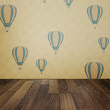 Vintage interior grunge background with wooden floor and balloon Stock Images