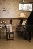 Vintage interior with piano Royalty Free Stock Photography