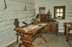 Vintage interior room in the national Museum of rural life in the Ukraine Stock Photography
