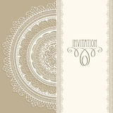 Vintage Invitation. With white lacy napkin Stock Photo