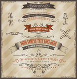 Vintage Invitation And Seasons Greetings Royalty Free Stock Photo