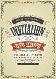 Vintage Invitation Background Stock Photo