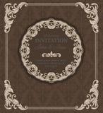 Vintage  invitation border Stock Image