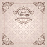Vintage invitation border and frame template Stock Images