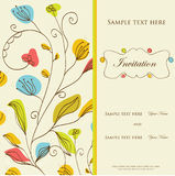 Vintage  invitation card Stock Photography