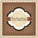 Vintage invitation card Stock Photo