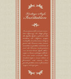 Vintage invitation card Stock Image