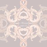 Vintage Invitation Card or banner with ornaments. Vintage Invitation Card or banner with Luxurious Baroque ornament. Rose quartz color Stock Images
