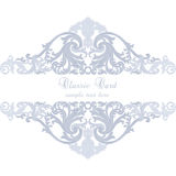 Vintage Invitation Card or banner with ornaments Royalty Free Stock Photography
