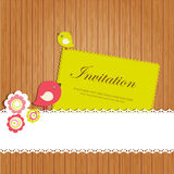 Vintage invitation card with birds Royalty Free Stock Image