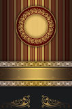 Vintage invitation card design. Royalty Free Stock Images