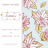 Vintage  invitation card with floral Stock Image