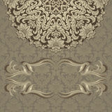 Vintage invitation card Royalty Free Stock Images