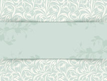 Vintage invitation card with floral pattern. Vector eps-10. Royalty Free Stock Photos
