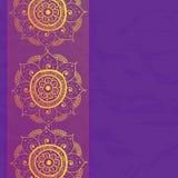 Vintage invitation card on grunge purple background Stock Image