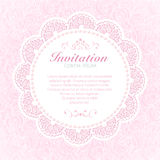 Vintage invitation card. Royalty Free Stock Photos