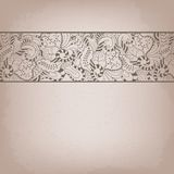 Vintage invitation card with lace ornament. Royalty Free Stock Image