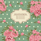 Vintage invitation card Royalty Free Stock Image