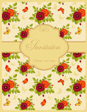 Vintage invitation card. Invitation card in retro style. Vector illustration Royalty Free Stock Photography