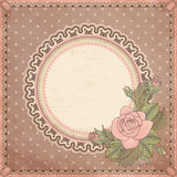 Vintage invitation card with rose Stock Photo