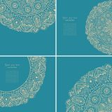 Vintage invitation card set. Template frame design for card. Vin Royalty Free Stock Images