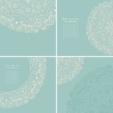 Vintage invitation card set. Template frame design for card. Vin Royalty Free Stock Photography