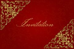 Vintage invitation card. Template frame design for greeting and wedding card stock illustration