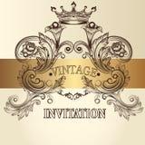 Vintage invitation card Stock Photography