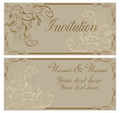 Vintage invitation card. Stock Photos