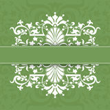 Vector illustration with vintage decorations Stock Photography