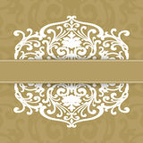 Vintage invitation card Royalty Free Stock Photos