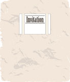 Vintage invitation cards set. Royalty Free Stock Image