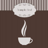 Vintage invitation with coffee cup Royalty Free Stock Images