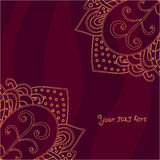 Vintage invitation corners on abstract background, can be used for Valentine's Royalty Free Stock Images