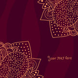 Vintage invitation corners on abstract background with lace ornament Royalty Free Stock Photo