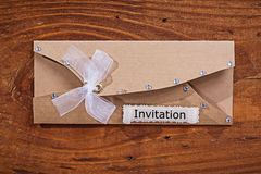 Vintage invitation envelope Stock Image