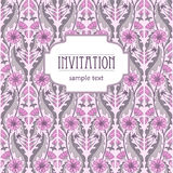 Vintage invitation floral background for design Stock Photo