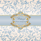 Vintage Invitation with floral ornaments Royalty Free Stock Photo
