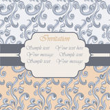 Vintage Invitation with floral ornaments Stock Photos