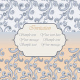 Vintage Invitation with floral ornaments Royalty Free Stock Images